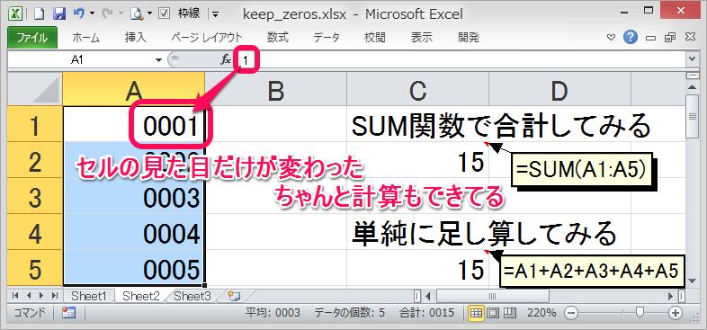 セルの表示形式だけを任意の桁数に設定完了